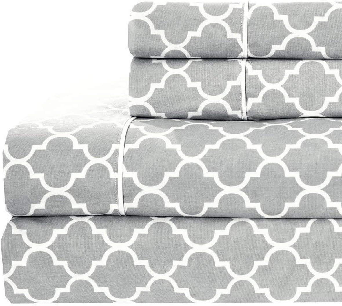 Top Split California King Sheet Set 340 Thread Count Pure Solid Cotton