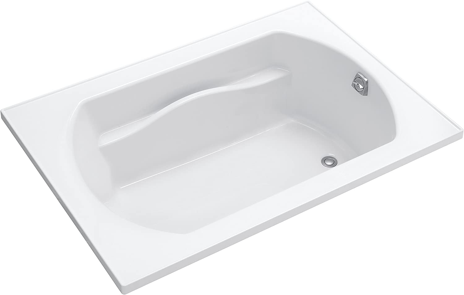 STERLING, a KOHLER Company 71281100-0 Lawson Vikrell 60-In Alcove Bathtub with Reversible Drain, White