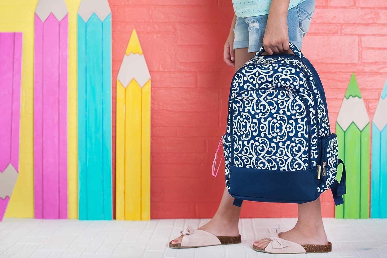 Ellison Pink Paisley 17 x 12 Polyester Fabric Basic Multipurpose Backpack