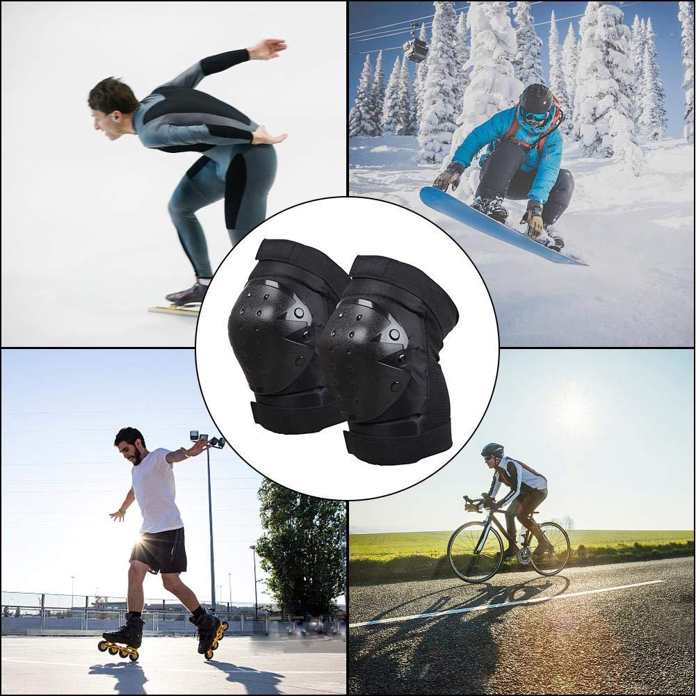 per Skateboarding Pattinaggio A Rotelle in Bicicletta Ciclismo BMX Bicicletta Scooter Yves25Tate Protettiva Gear Ginocchiere Unisex Adulto Equipaggiamento Protettivo Professionale
