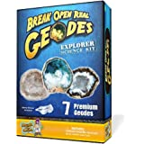 Geode Explorer Science Kit – Crack Open 7 Amazing Rocks and Find Crystals!