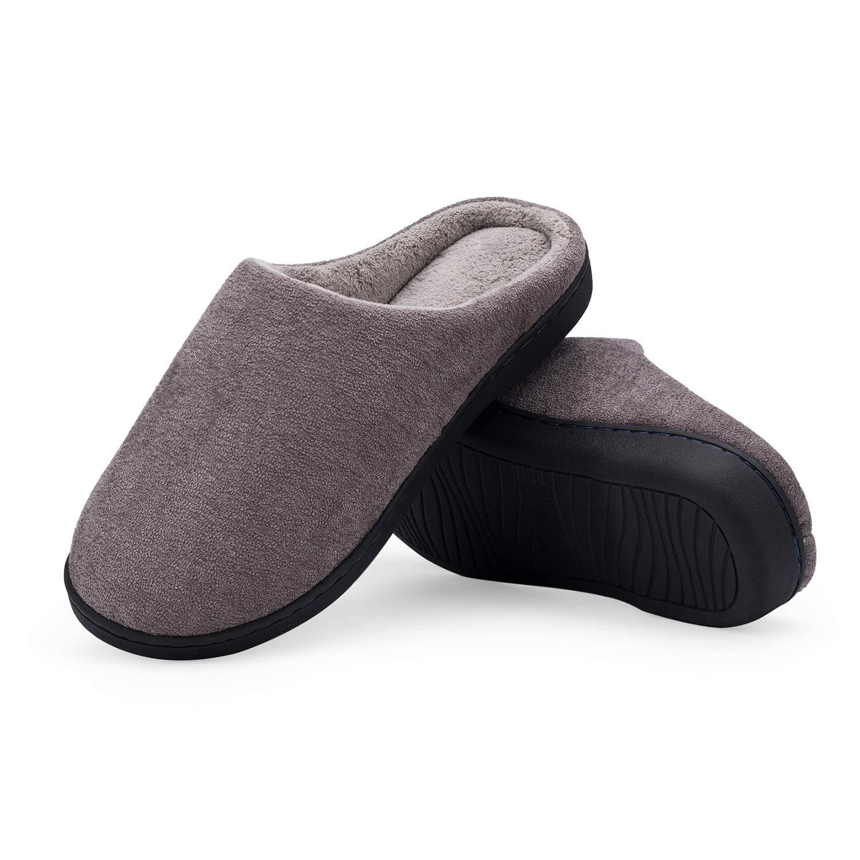 LeKuni Femmes Hommes Chaussons Pantoufles Mé moire Mousse Souple Dames Maison Chaussures d'hiver Chaud Inté rieur Pantoufles Anti-Slip Lé ger 8