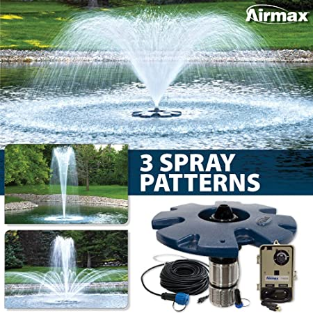 Ecoseries 1 2 Hp Floating Fountain 250 Power Cord 3 Patterns Control Panel By Airmax Aeration Fountains Amazon Co Uk Kitchen Home