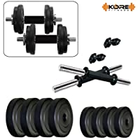 Kore PVC-DM COMBO16 (4 Kg - 26 Kg) Home Gym Dumbbells Kit