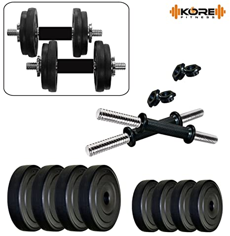 Kore PVC DM COMBO16 Home Gym Dumbbells Kit Exercise Sets
