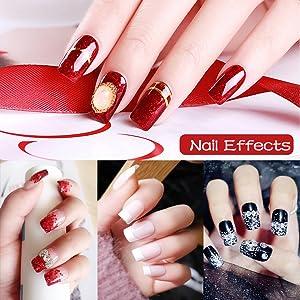 MAKARTT 500Pcs Squoval Nails Press on Nails French Nails Square Nails Full Cover Fake Nails Art Tips Acrylic Nail Tips 10 Sizes A-07 (Color: A-07 Clear Square Nails)