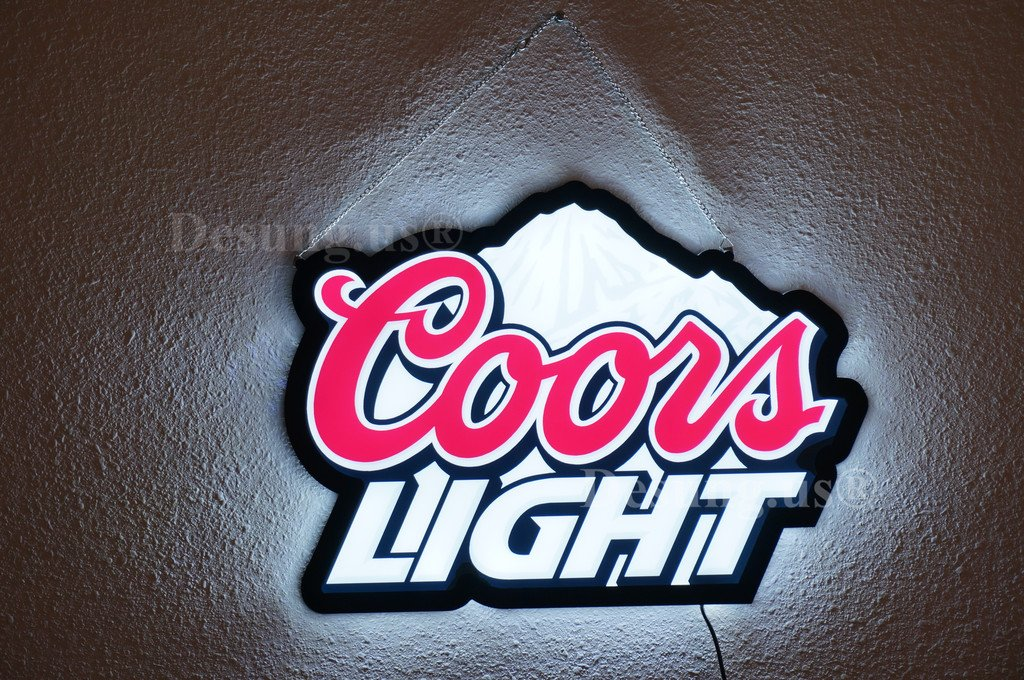 desung. US Revolutionary Coors _ライトLEDネオンライトサインビールバーパブスポーツMancave 3rd Generation sign 14 Inches 14 Inches  B01IPNVG6A