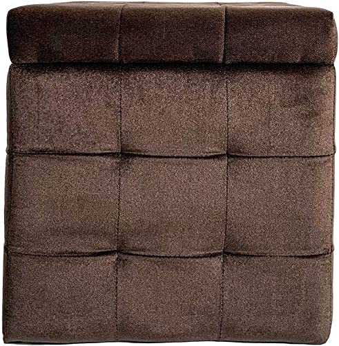 Comfort More Storage Ottoman Footstool and seat Tube Chocolate