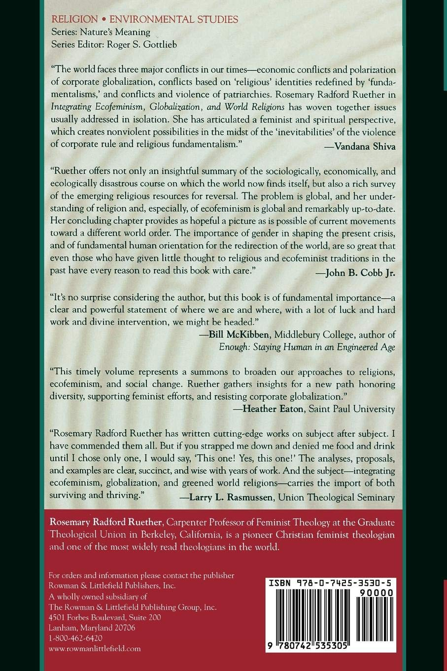 Buy Integrating Ecofeminism, Globalization, and World Religions (Nature's  Meaning) Book Online at Low Prices in India | Integrating Ecofeminism, ...
