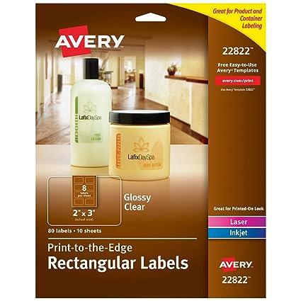 Avery Etiquetas rectangulares para impresoras láser y de inyección ...