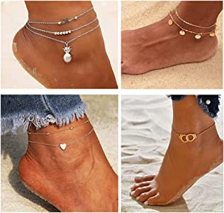 Ankle Bracelet Women Anklet Adjustable Chain Foot Beach Jewelry Gifts 8C