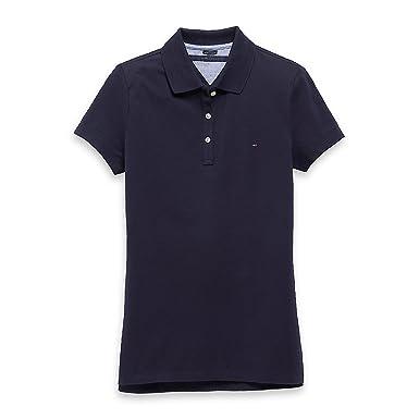 super beliebt Größe 7 vielfältig Stile Tommy Hilfiger Damen Poloshirt, Polo, Women's Plain Logo ...