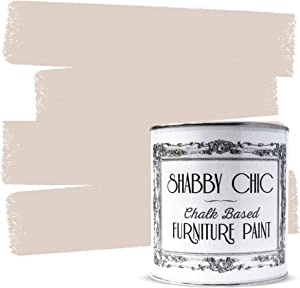 Shabby Chic Furniture Chalk Paint: Chalk Based Furniture and Craft Paint for Home Decor, DIY Projects, Wood Furniture - Chalked Interior Paints with Rustic Matte Finish - 250ml - Strawberry Yoghurt