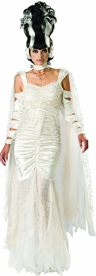 1930s Costumes- Bride of Frankenstein, Betty Boop, Olive Oyl, Bonnie & Clyde InCharacter Costumes LLC Womens Monster Bride Costume $188.99 AT vintagedancer.com