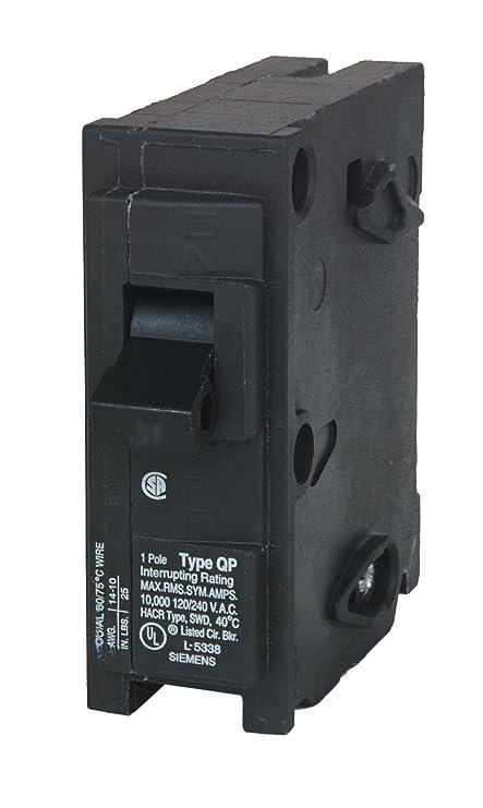 Siemens Q125 25-Amp 1 Pole 120-Volt Circuit Breaker - - Amazon.com