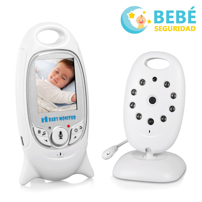 Monitor Bebé Vigilabebés Cámara Inalámbrico Digital MiuVei Pantalla LCD de  Visión