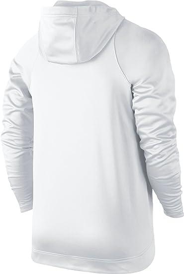 4e33abe210e7 Nike Mens Therma Elite Pullover Basketball Hoodie White Wolf Grey  776097-100 Size 2X