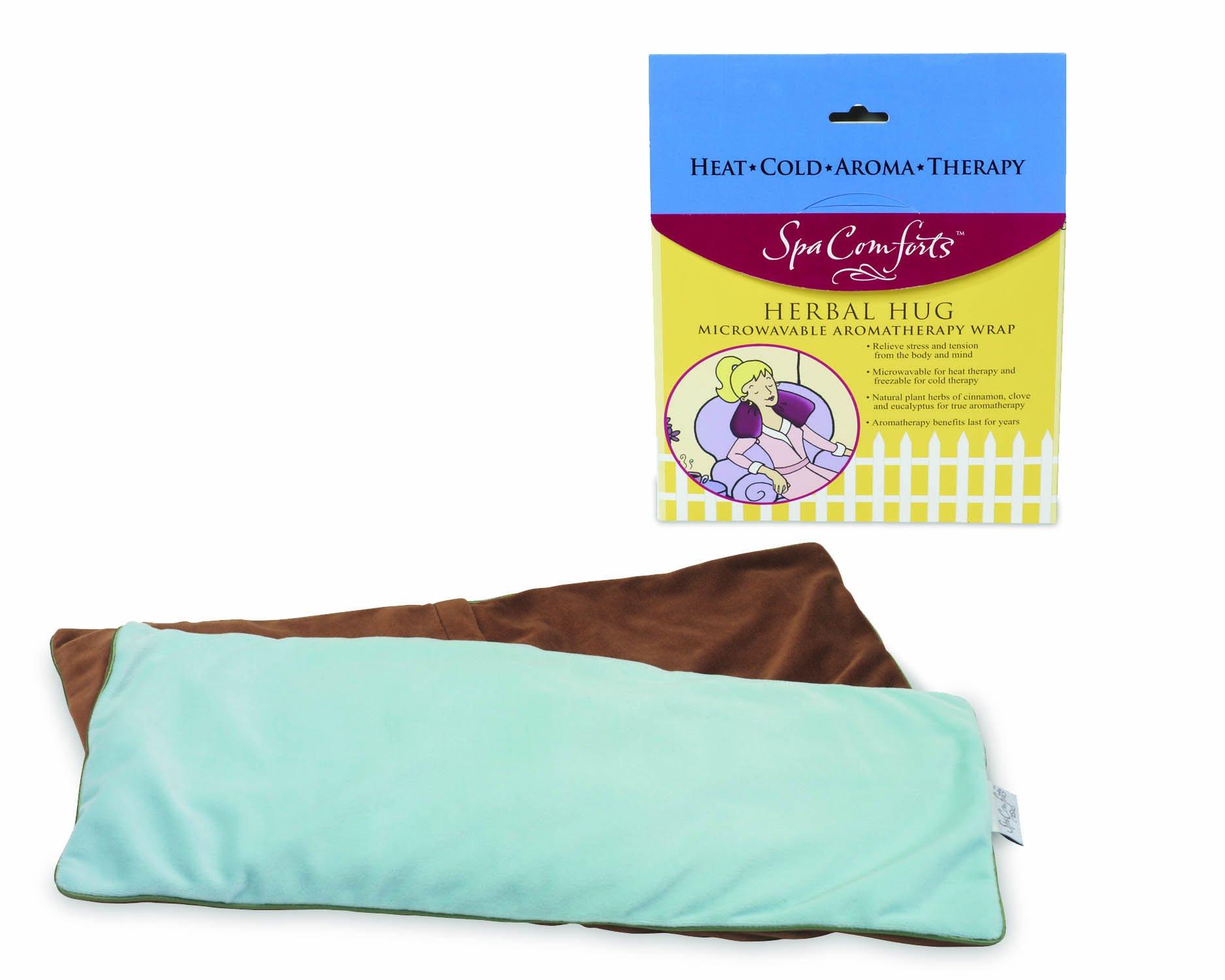 Spa Comforts Herbal Hug, teal/brown