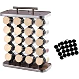 """Spice Rack Organizer 20 Pieces With Gold Spice Jars, Spice Jars Rack Wood 13.5"""" Never Fade NO Rotating (No Spice ) …"""