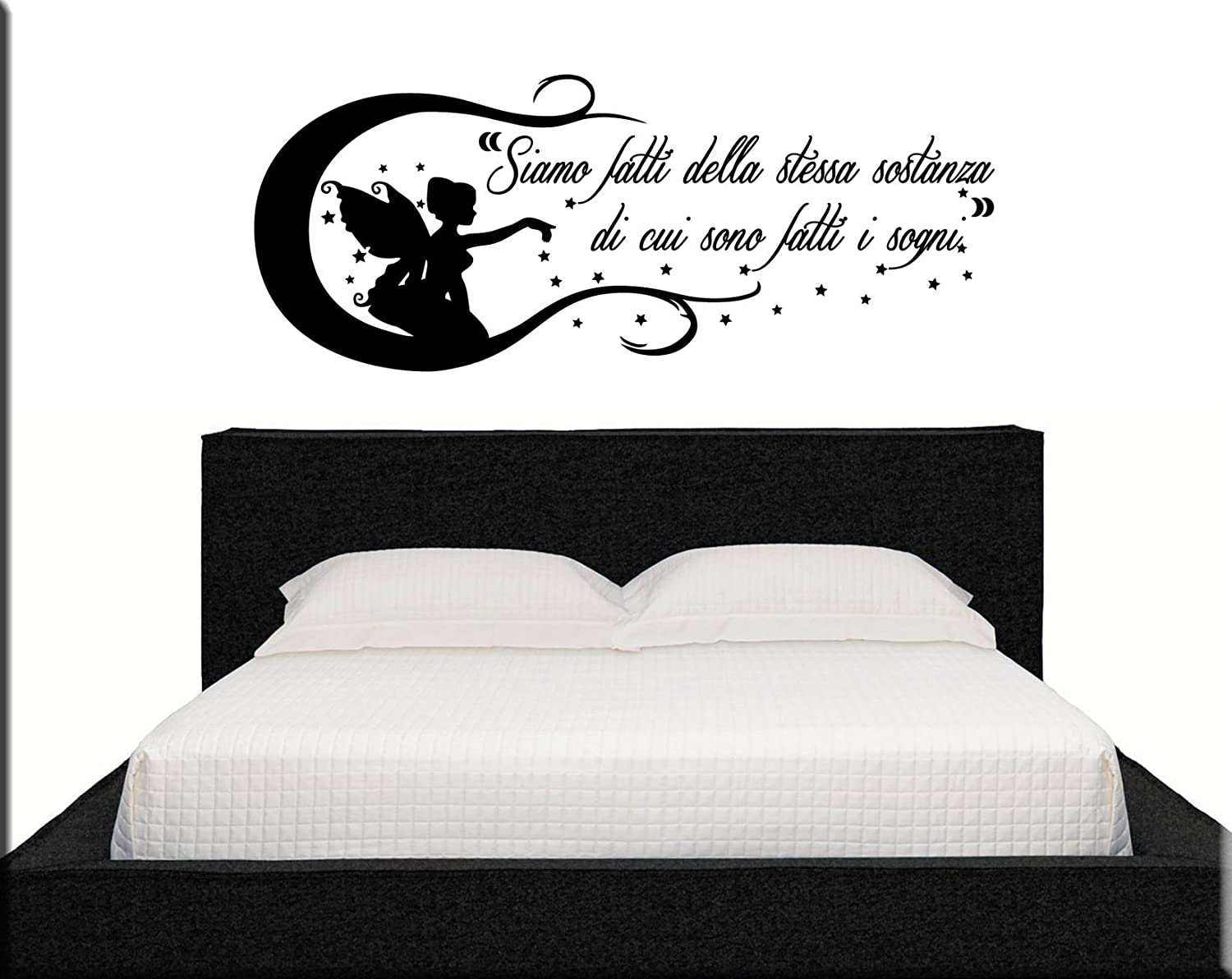 adesivi murali aforisma wall stickers frase camera da letto ... - Stickers Murali Camera Da Letto