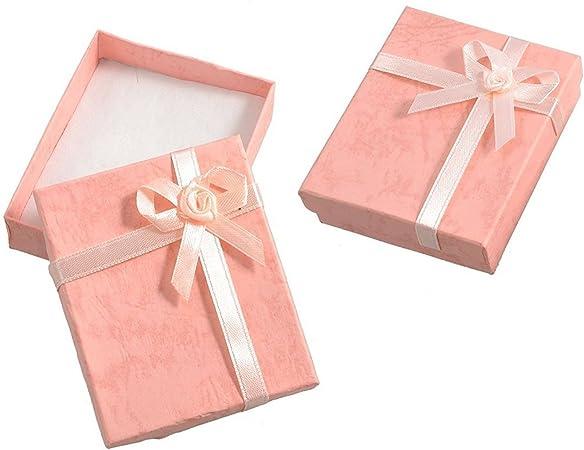 SODIAL(R) 2 x Caja para Regalo / Pulsera con Lazo, Color Rosa: Amazon.es: Hogar