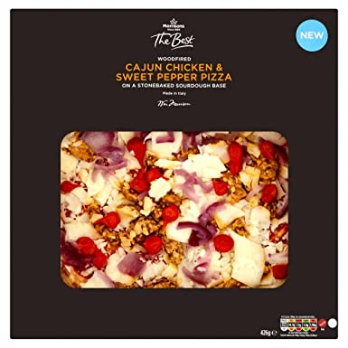 Morrisons The Best Woodfired Cajun Chicken Sweet Pepper Pizza 426