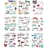 DECORA 9 Pieces Planer Journaling Design Clear Rubber Stamp for Card Making Decoration and Scrapbooking