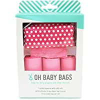 Oh Baby Bags Diaper Bag Clip-On Dispenser Gift Box with Scented Disposable Bags for Dirty Diapers - Recycled Plastic…