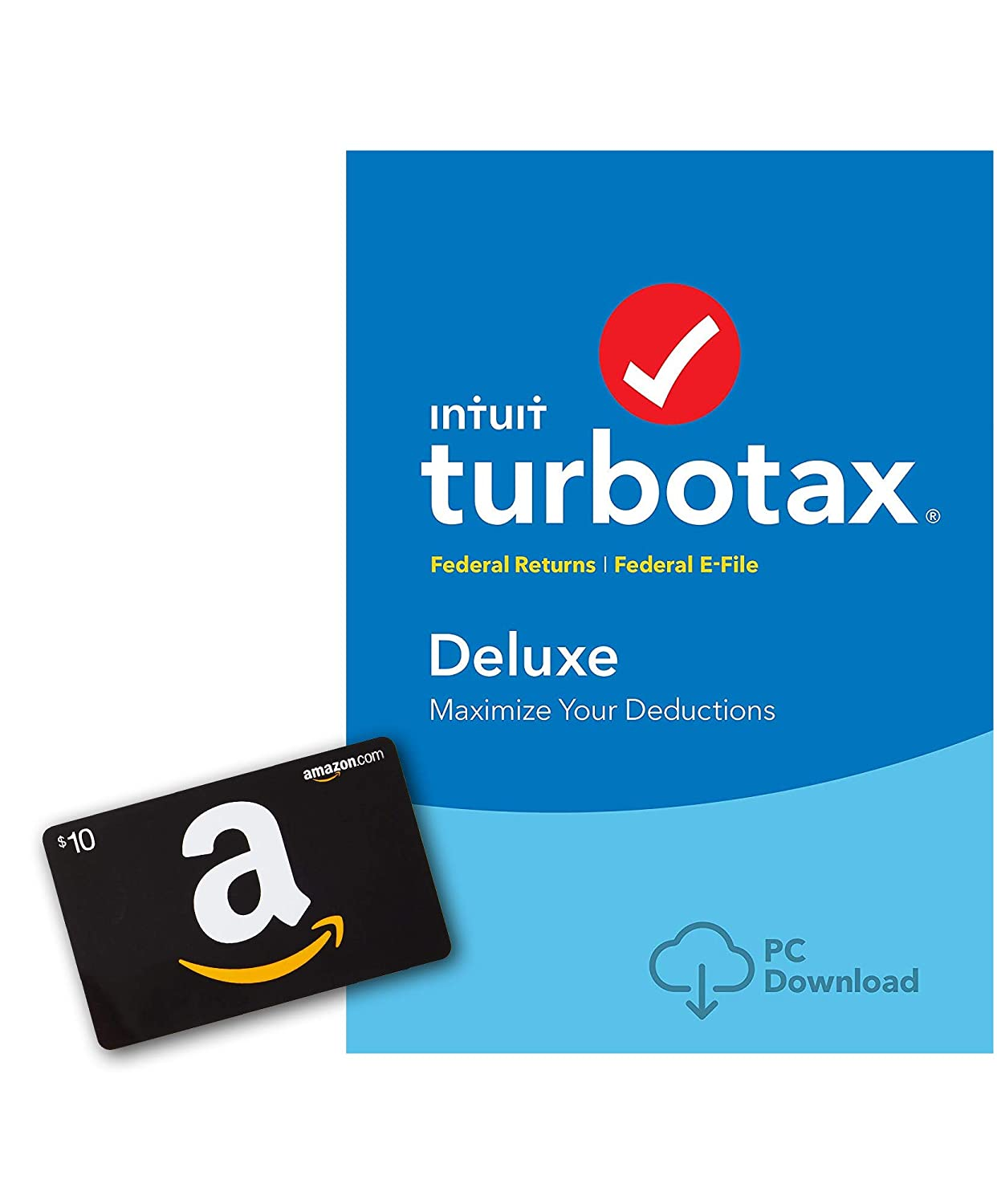 TurboTax Deluxe 2018 Tax Software [Mac Download] [ Exclusive] with $10  Gift Card