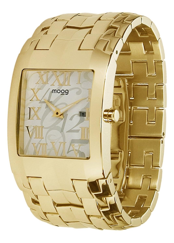 Moog Paris - Jewel Rain - Damen Armbanduhr gold aus Edelstahl - Armband Gold aus Edelstahl - in Frankreich hergestellt -