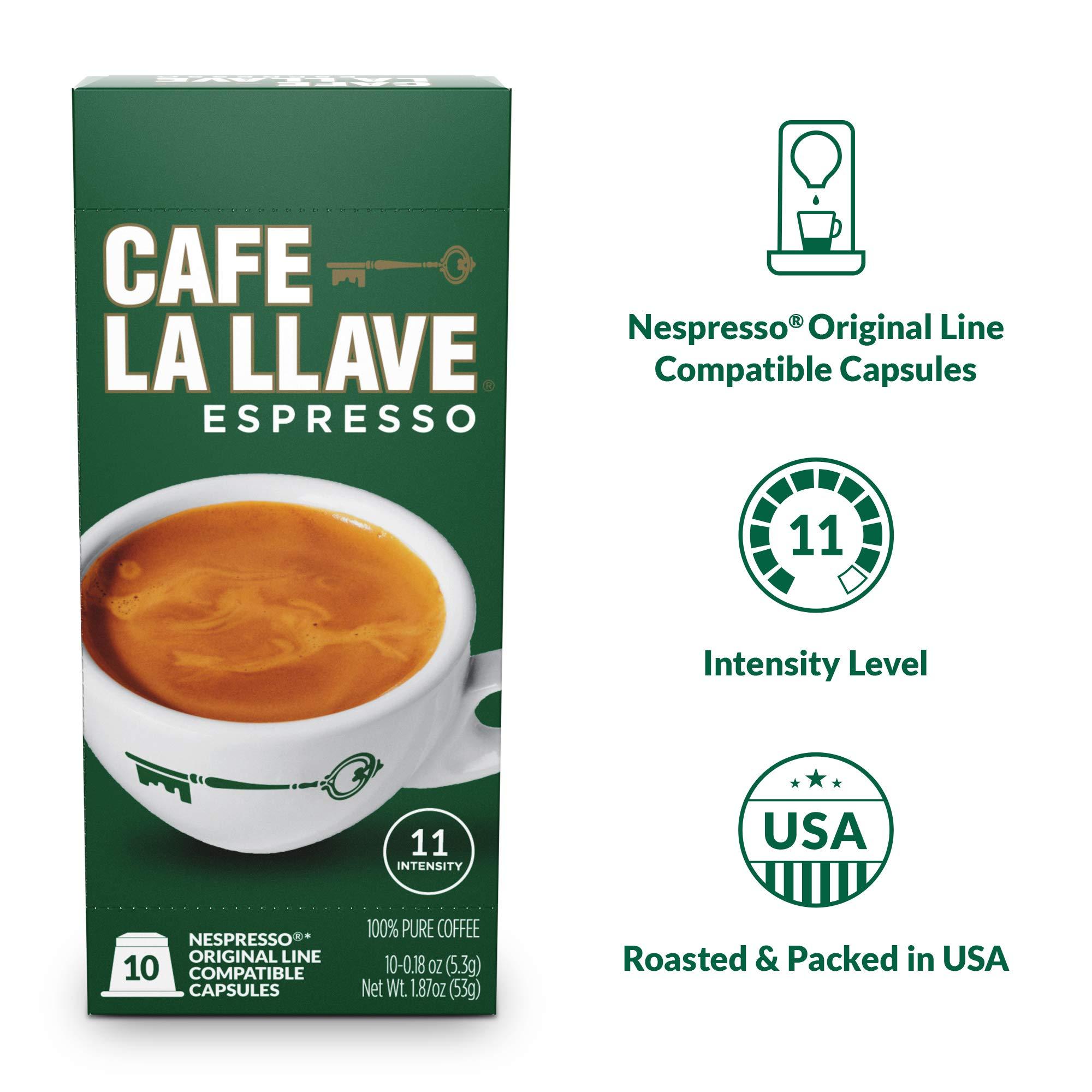 Café La Llave Espresso Capsules, Intensity 11 (80 Pods) Compatible with Nespresso OriginalLine Machines, Single Cup Coffee by Cafe La Llave (Image #4)