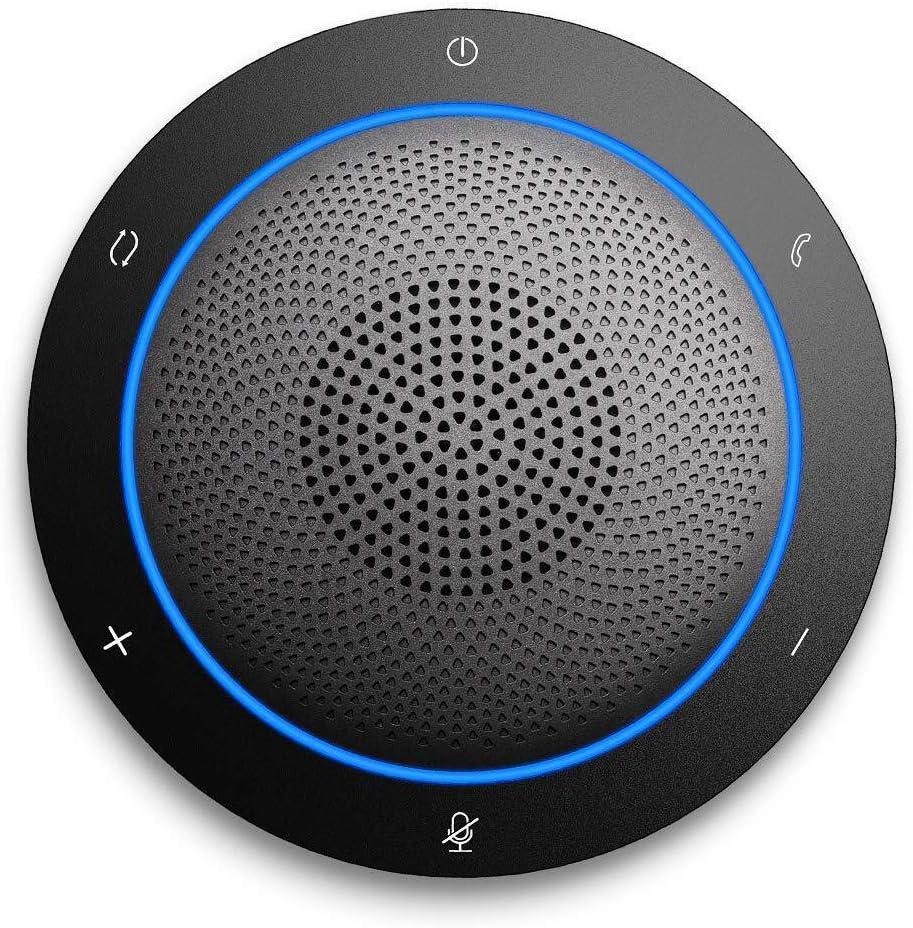 Kaysuda Bluetooth Conference Speakerphone Micrófono inalámbrico y Altavoz para teléfono móvil y computadora, USB Office Speakerphone para Skype, Zoom