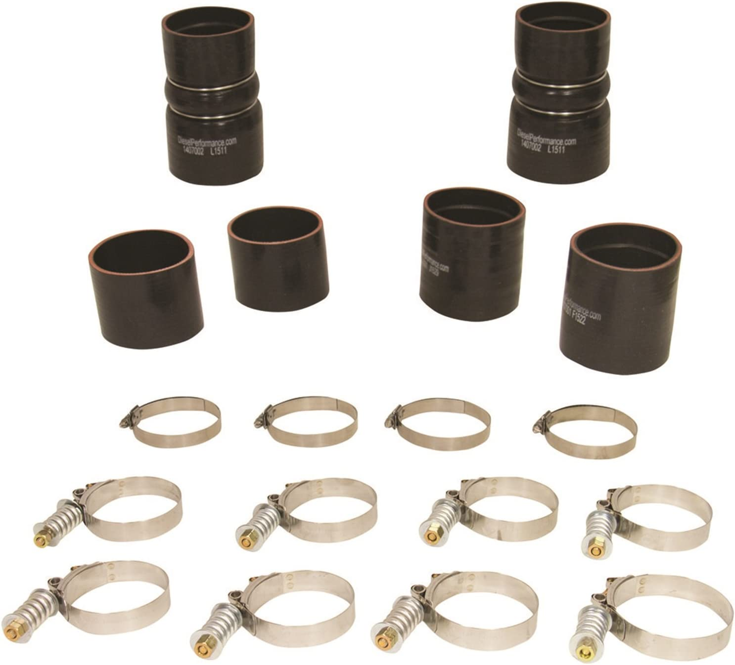 BETTERCLOUD Intercooler CAC Hose /& Clamp Kit Fit for 2003-2007 Ford 6.0L Powerstroke Diesel