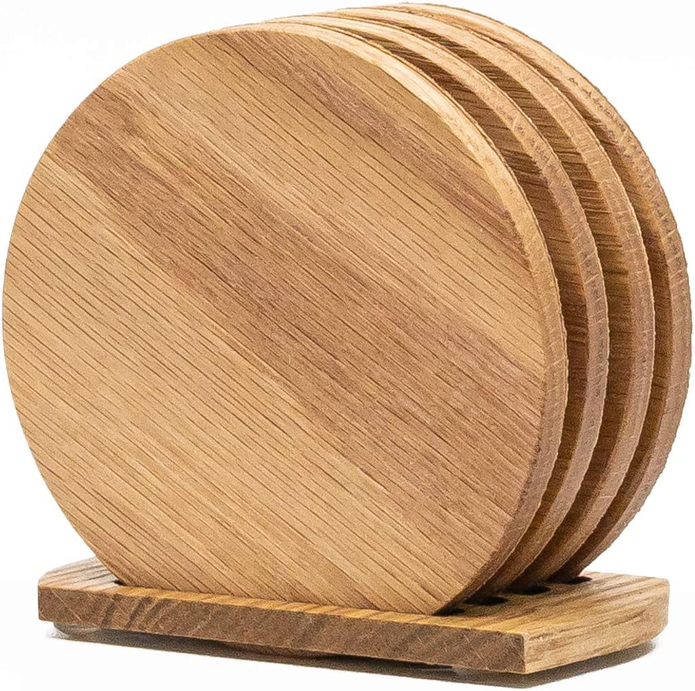 Teak Wood Rectangle Coasters Set of 4 for Drinks 6.25 x 3.25 inches Potters and Home Decor for Table and Bar Protection Appetizers