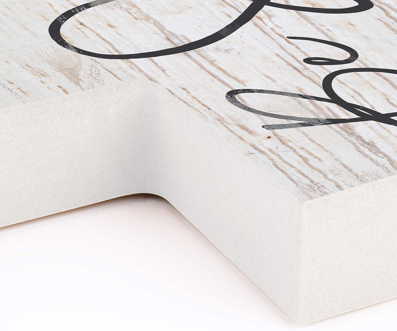 Graham Dunn Be Still Script Whitewash 8.5 x 12 Solid Pine Wood Wall Hanging Cross P
