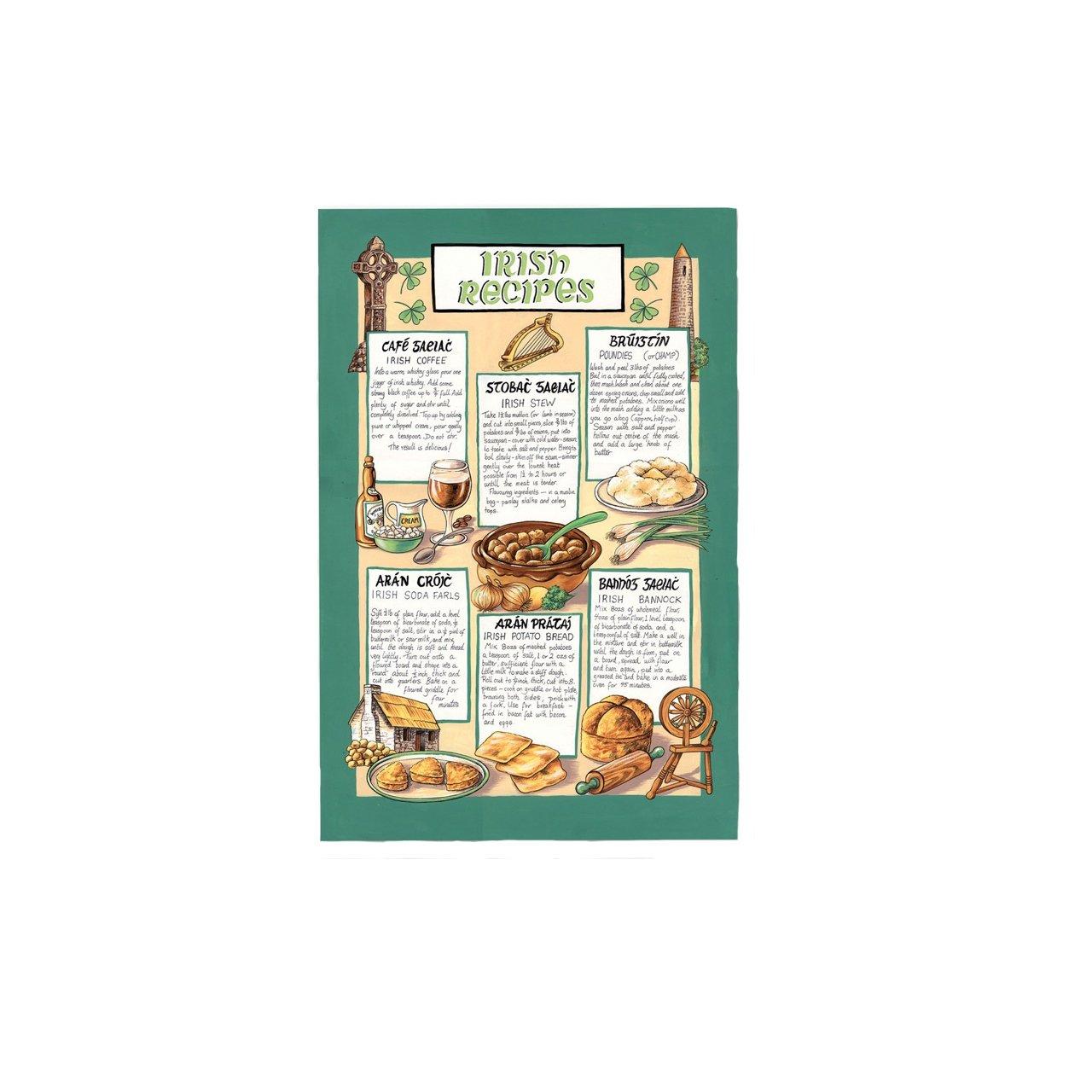 Ulster Weavers Traditional Irish Recipes Linen Tea Towel