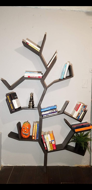 Hand Crafted Wooden Tree Bookshelf