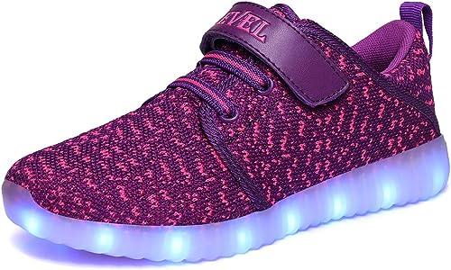 SLEVEL Toddler Kids LED Light Up Shoes Dance Dazzle Sneaker for Boys Girls