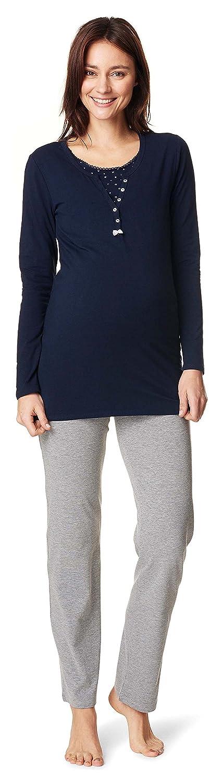 Noppies Schlafanzug Amanda/2 in 1 Umstandsschlafanzug Sleep Shirt + Hose Pyjama Nachtwäsche Still- Pyjama 20559-20555