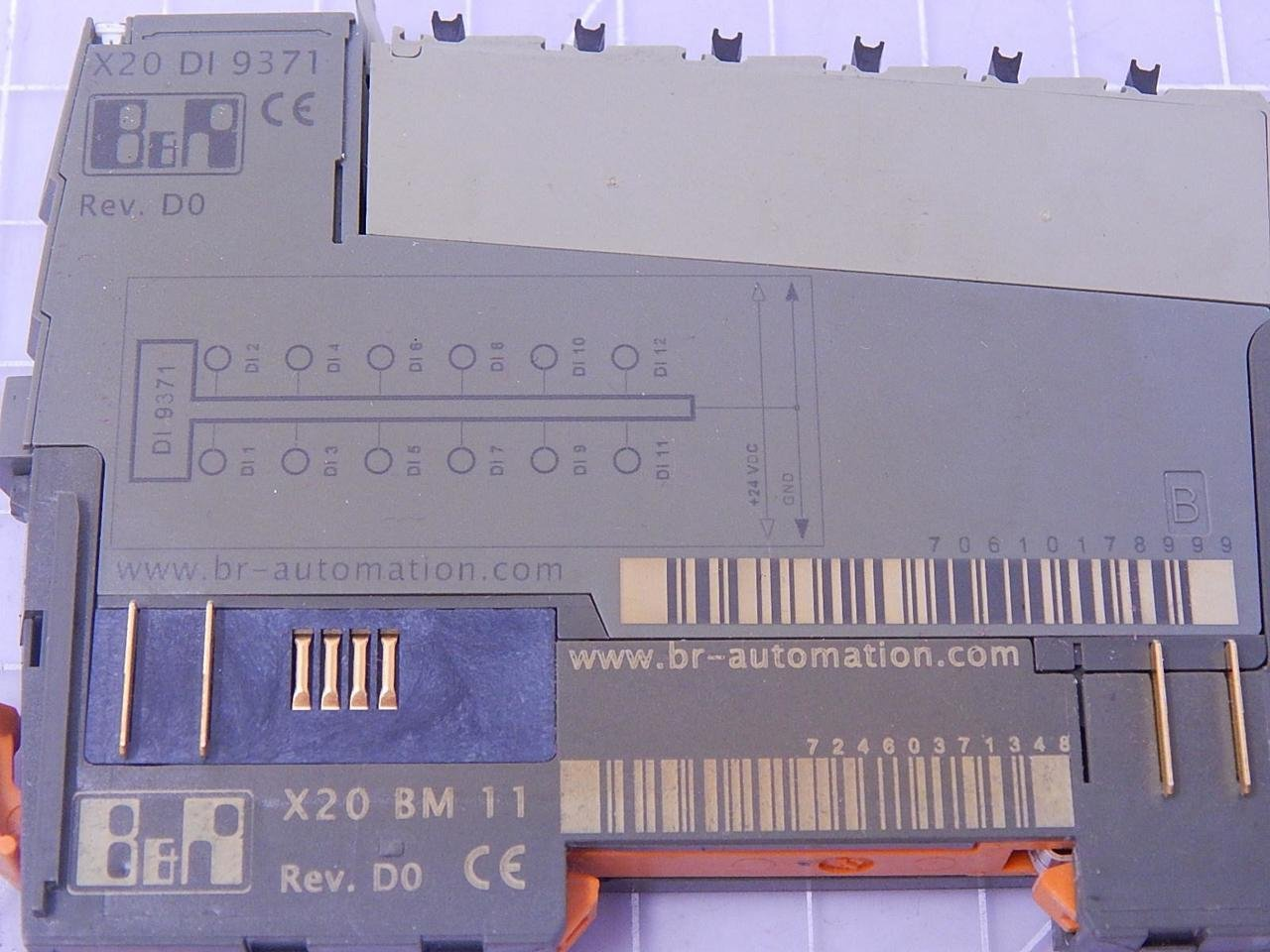 B/&r X20 BM 11 Module Bus 24 VDC Keyed interne I//O approvisionnement continu