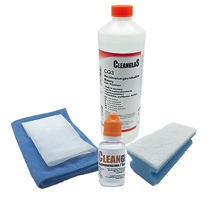 CleanglaS Nano Sellado de Vidrio Antical de Baño y Sanitario con Espuma de Limpieza Profesional -