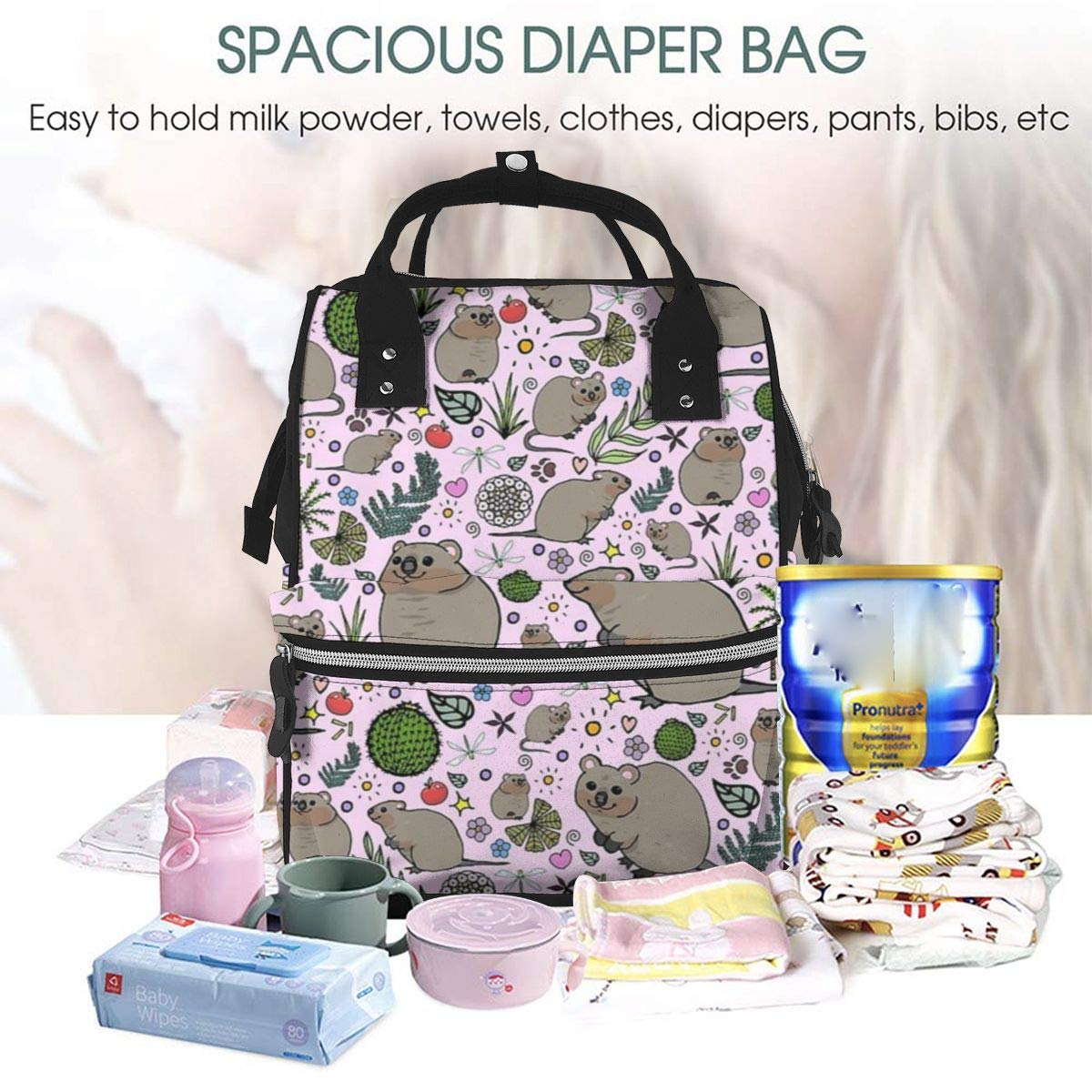 Travel Cloth Diaper Wet Bags Waterproof Diaper Bag Nappy Bag 28*18CM, A