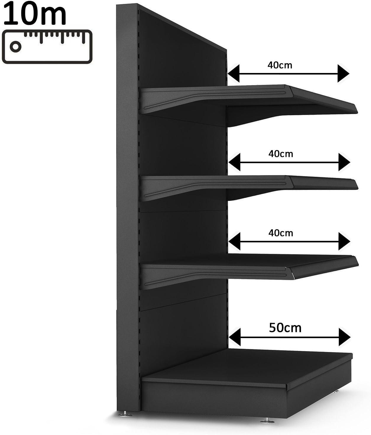 GGM Muebles Estantería de pared 10000 X h1640 mm (Góndola ...
