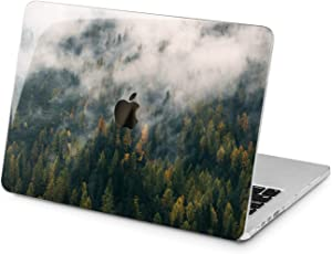 "Cavka Hard Shell Case for Apple MacBook Pro 13"" 2019 15"" 2018 Air 13"" 2020 Retina 2015 Mac 11"" Mac 12"" Pine Pattern Print Fog Plastic Green Tree Protective Design Trendy Cover Forest Nature Laptop"