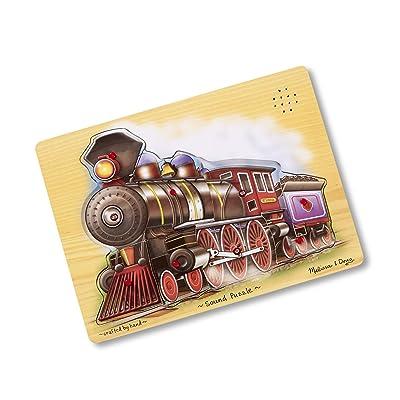 Melissa & Doug Train Sound Puzzle - Wooden Puzzle With Sound Effects (9 pcs): Melissa & Doug: Toys & Games