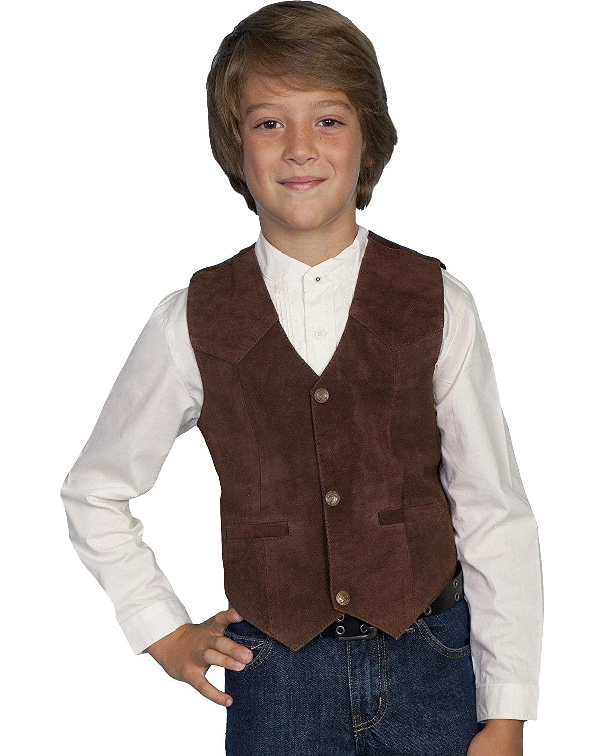 Steampunk Kids Costumes | Girl, Boy, Baby, Toddler Scully Boys Boar Suede Vest - 2002-67 $33.81 AT vintagedancer.com