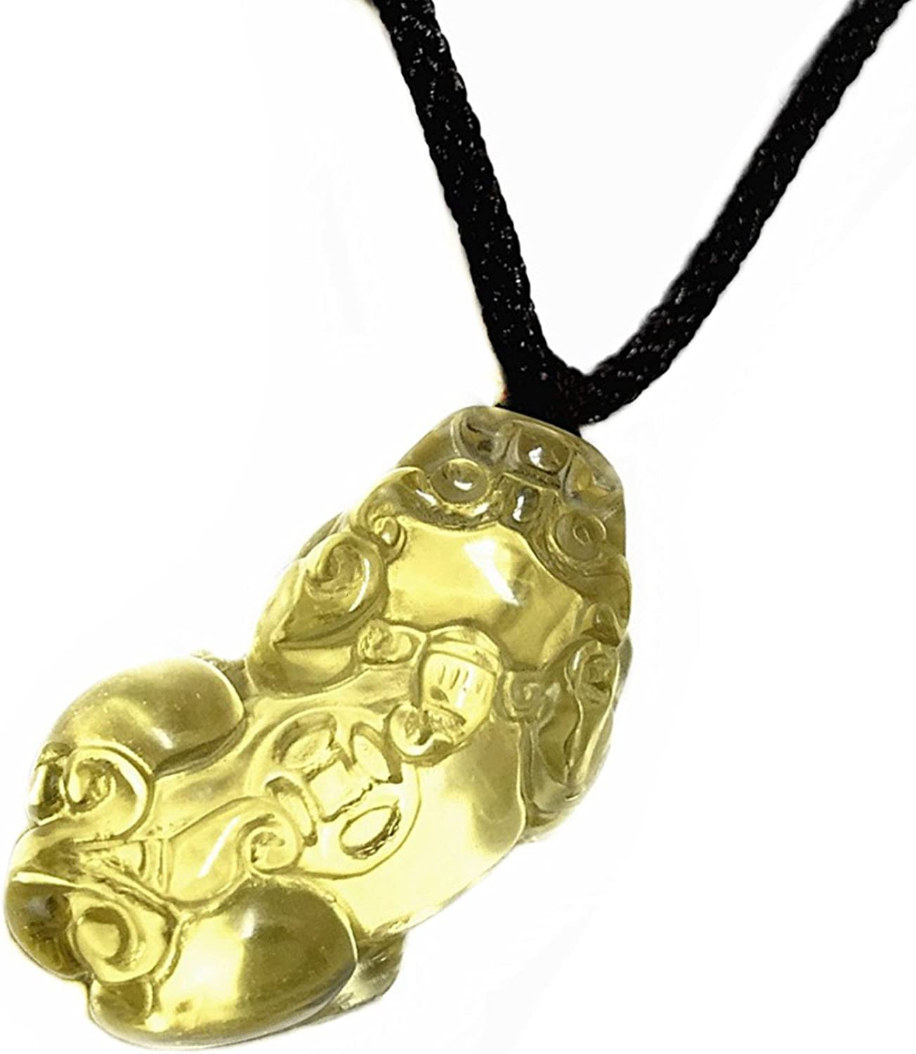 with a Gift Bag Betterdecor Handmade Feng Shui Pi Yao Necklace Pendant for Wealth Luck -Assorted Colors