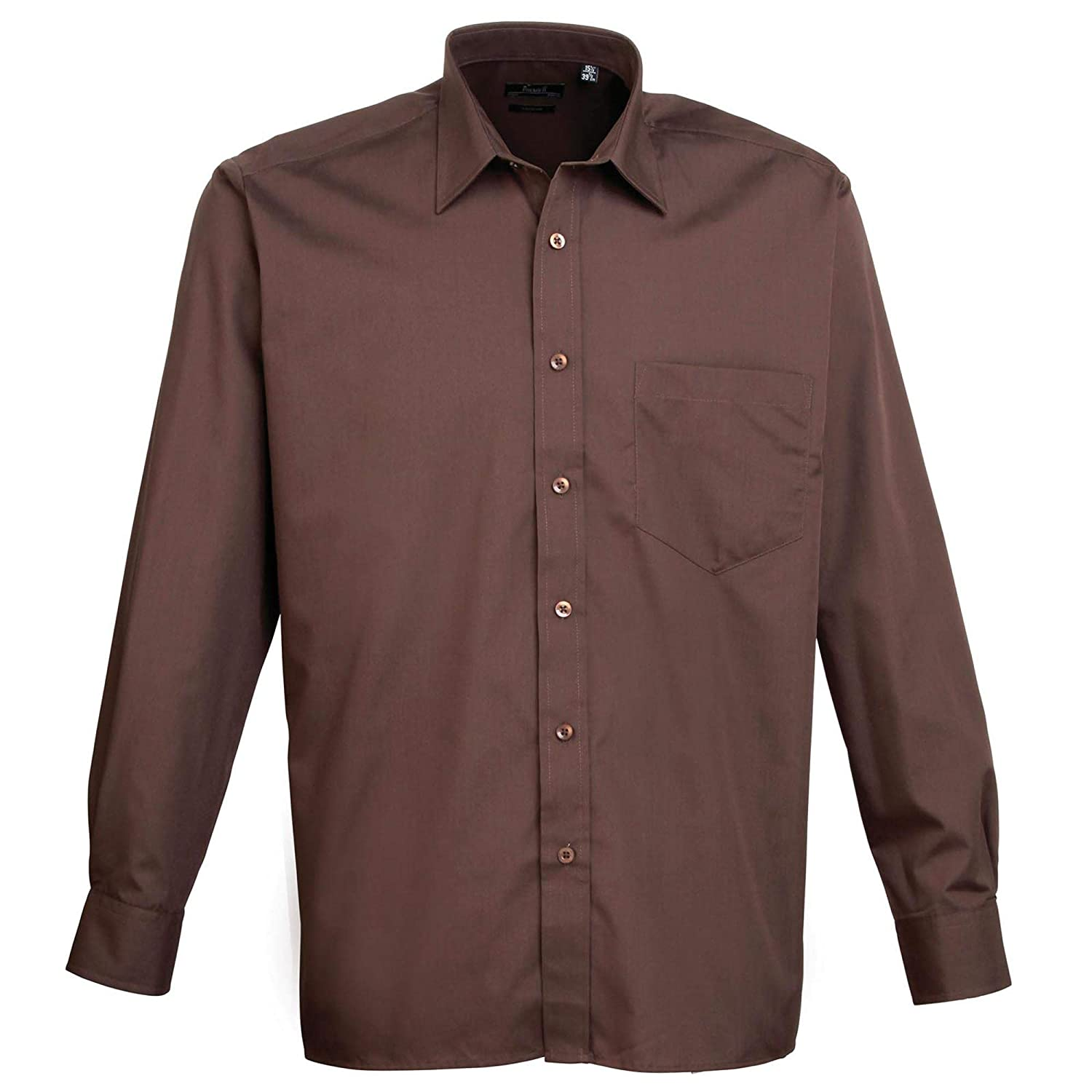 Premier PR200 Long Sleeve poplin Shirt Blank Plain