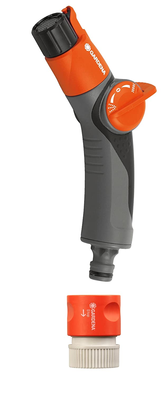 Gardena 8185 Comfort Dou Two Pattern Garden Hose Spray Nozzle With Quick Connect