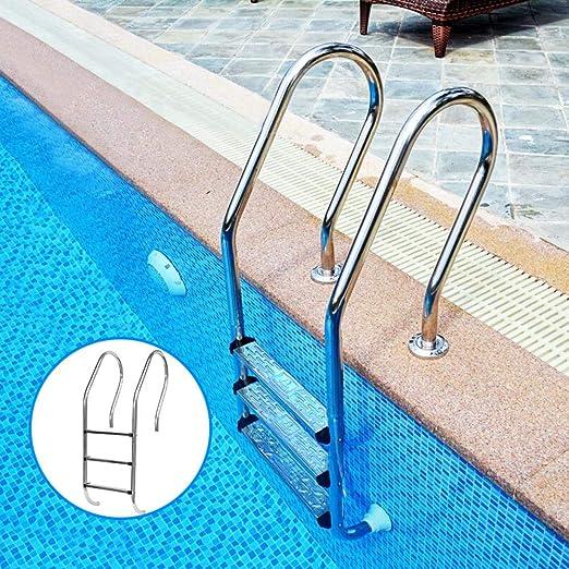 N/B Escaleras De Piscina 3 Peldaños , Acero Inoxidable Escalera De Seguridad ,Peldaño De Escalera Antideslizante De Reemplazo De Peldaños, 50x7.5x2.5cm: Amazon.es: Hogar